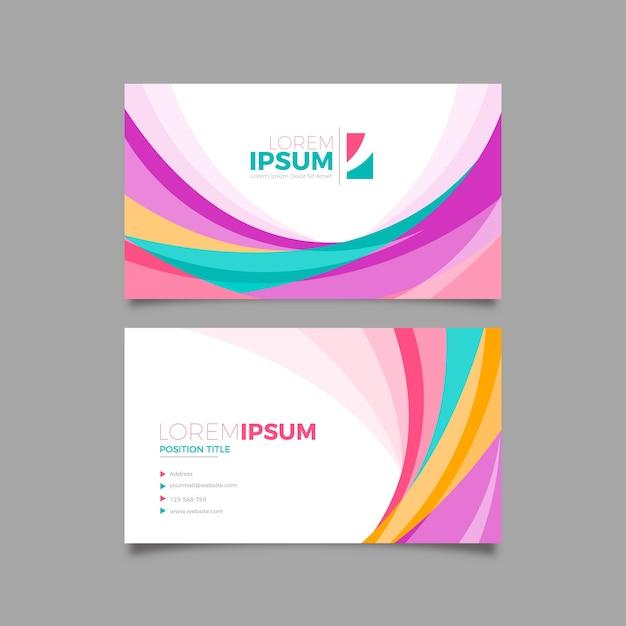 Цветной абстрактный визитная карточка с творческими формами Бесплатные векторы
