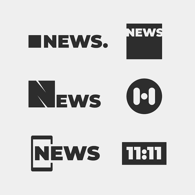 Концепция коллекции логотипов новостей Бесплатные векторы