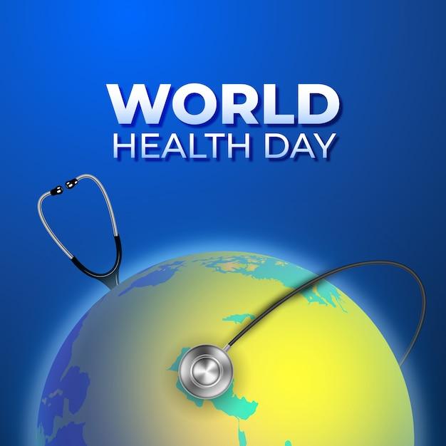 現実的な世界保健デー 無料ベクター
