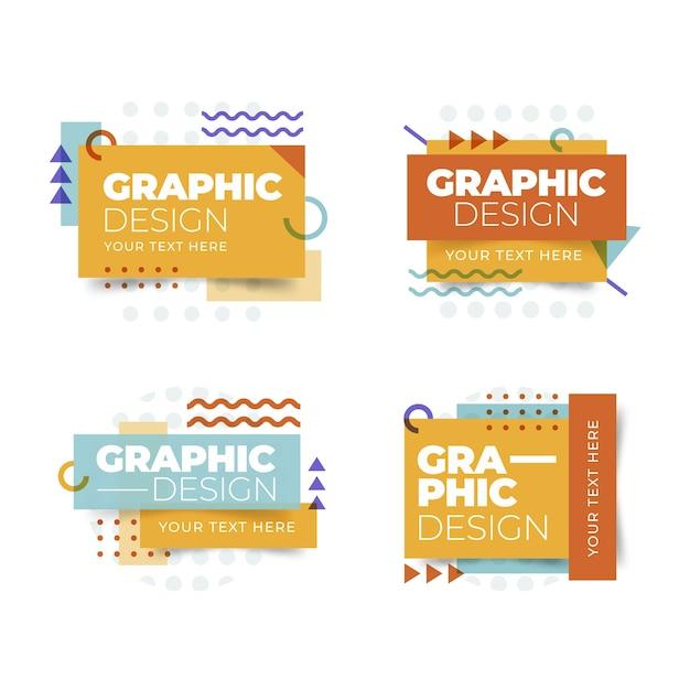 Ярлыки в геометрическом дизайне Бесплатные векторы