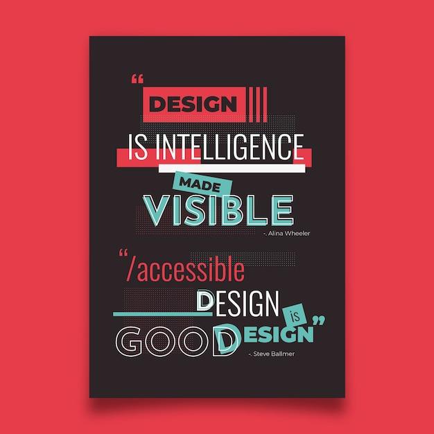 Знаменитый дизайн цитаты типографский плакат Бесплатные векторы