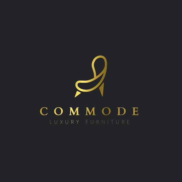 Элегантная мебель логотип Бесплатные векторы