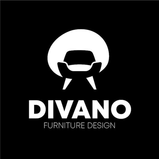 シンプルな家具のロゴのコンセプト 無料ベクター