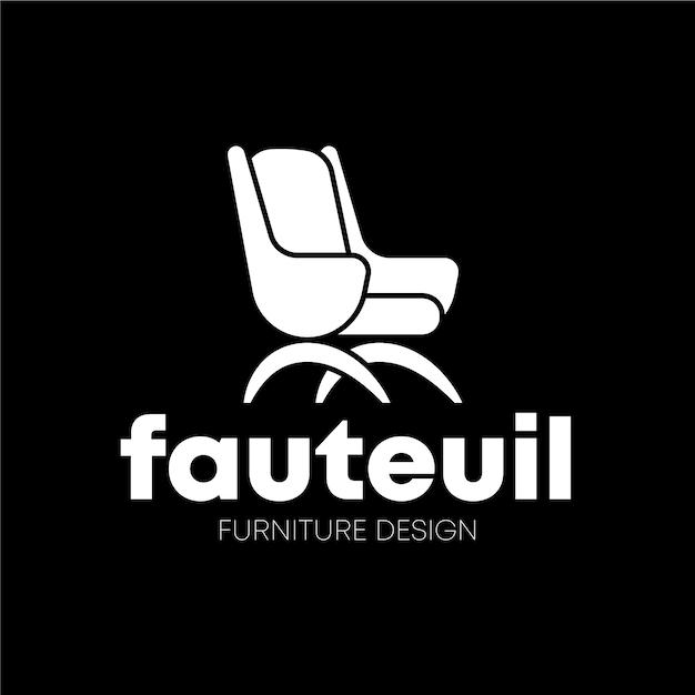 Минималистичный дизайн логотипа мебели Бесплатные векторы