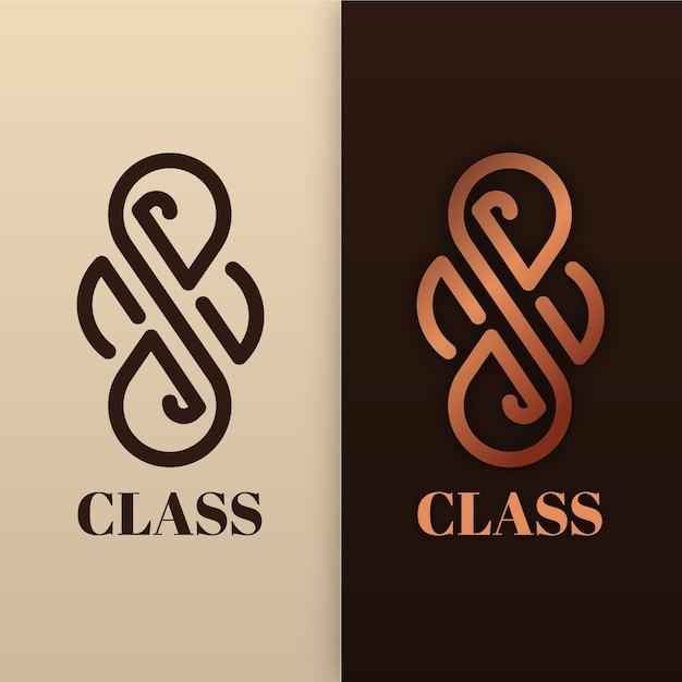 Абстрактный логотип в стиле двух версий Бесплатные векторы