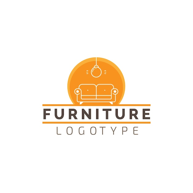 家具店の事業会社のロゴ 無料ベクター