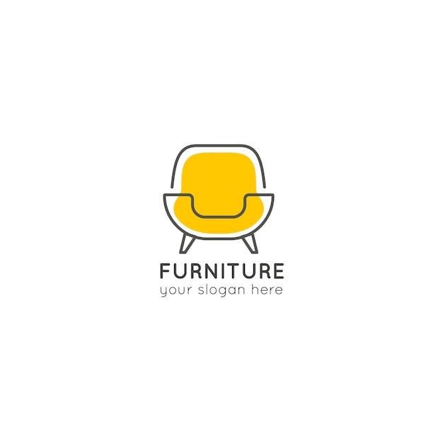 Кресло мебельная бизнес логотип компании Бесплатные векторы