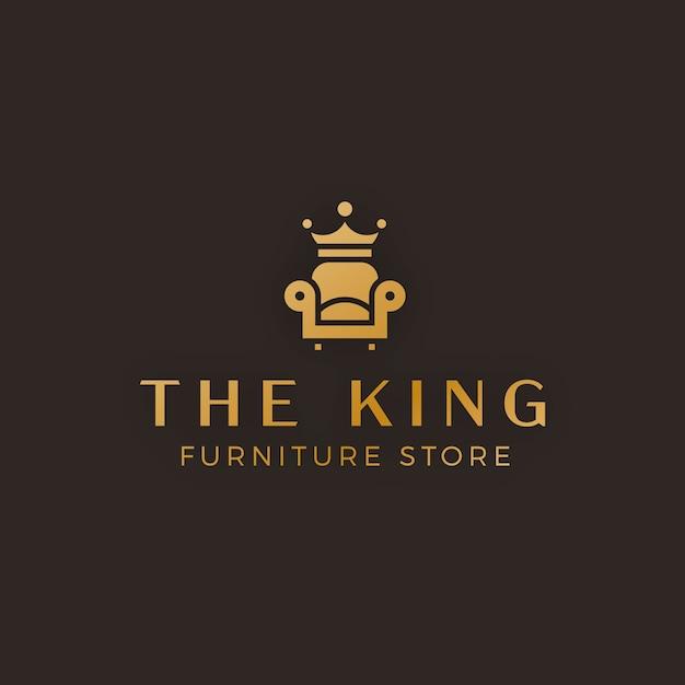 エレガントな金色の家具のロゴ 無料ベクター