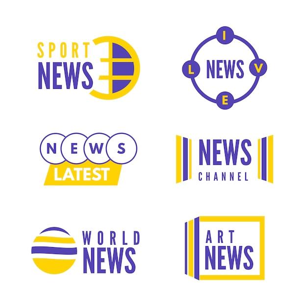 Набор логотипов новостей Бесплатные векторы