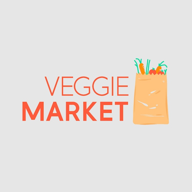 スーパーマーケットのロゴ 無料ベクター