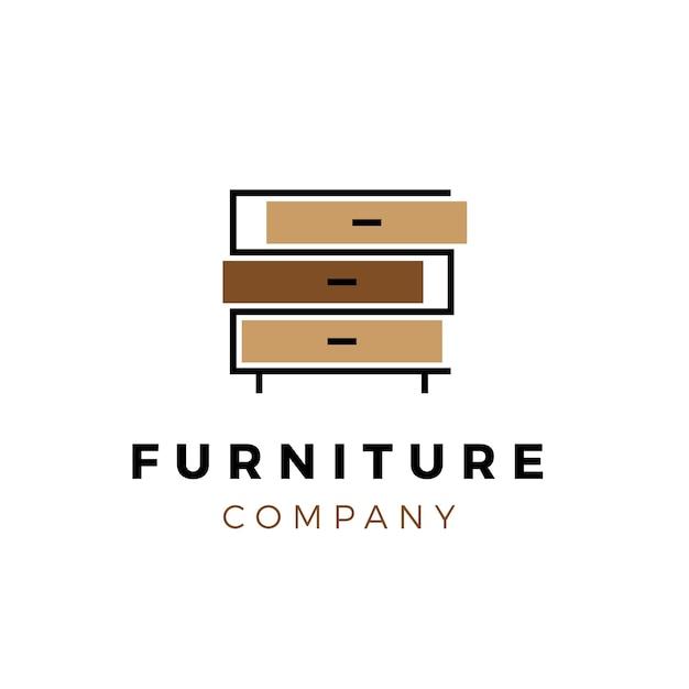 Креативный шаблон мебели логотип Бесплатные векторы