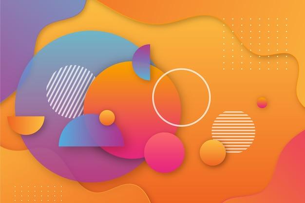 Цветной абстрактный фон Бесплатные векторы