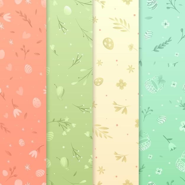 Плоский дизайн пасхального дня Бесплатные векторы