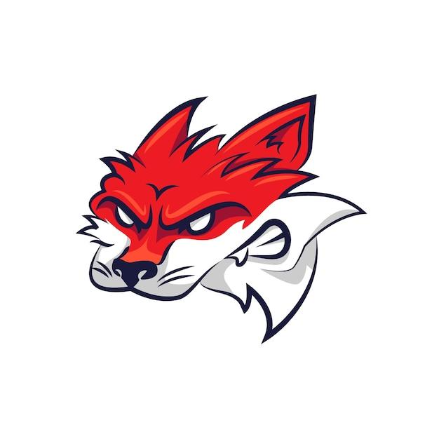 フォックスとマスコットのロゴデザイン 無料ベクター
