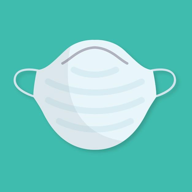 Плоская медицинская маска Бесплатные векторы