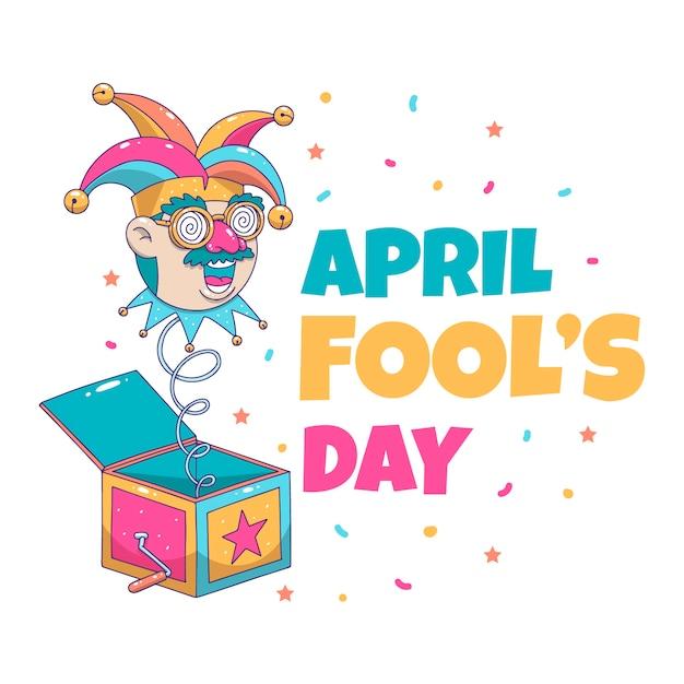 Нарисованный от руки апреля дураков день праздничный день Бесплатные векторы