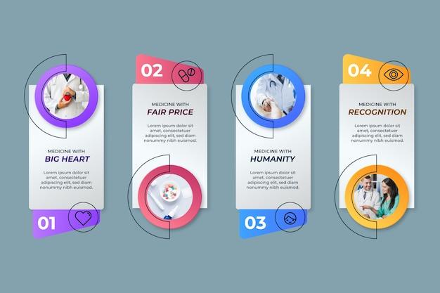 Шаблон медицинской инфографики Бесплатные векторы