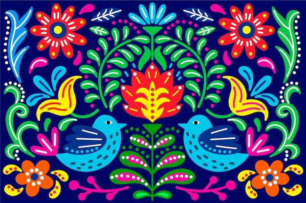メキシコの概念とカラフルな背景 無料ベクター