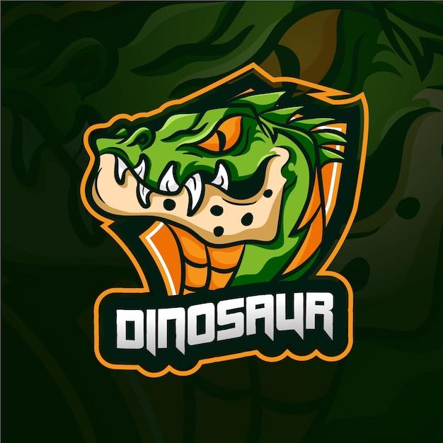 Динозавр талисман логотип Бесплатные векторы