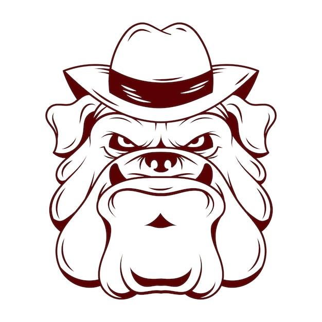 Мафиозная собака персонаж в шляпе Бесплатные векторы