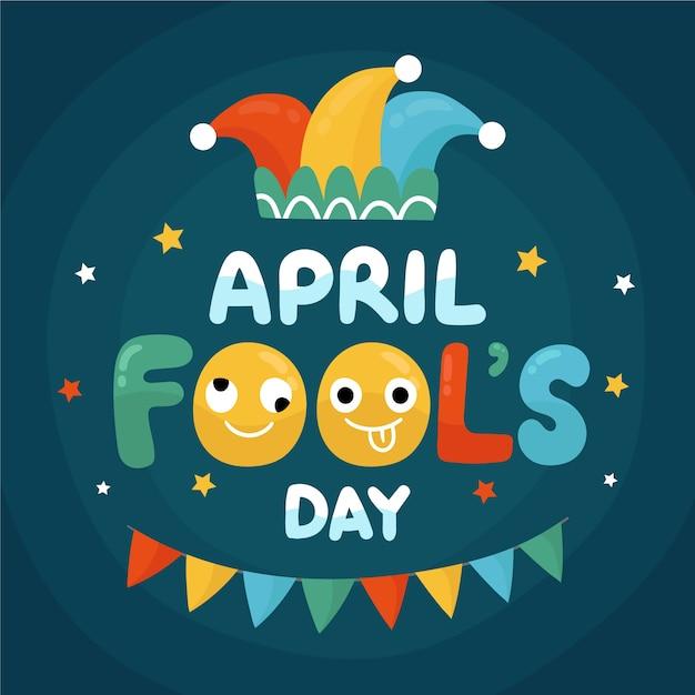 Рисование апреля день дураков концепции Бесплатные векторы