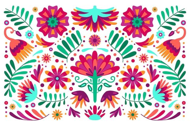 Красочный мексиканский фон Бесплатные векторы