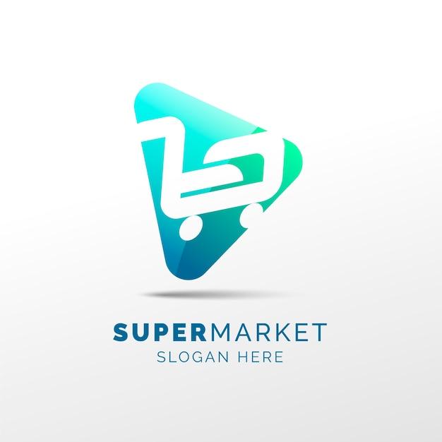 スーパーマーケットのロゴのコンセプト 無料ベクター