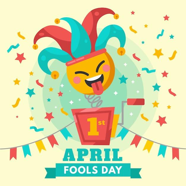 Красочная концепция празднования дня дураков Бесплатные векторы