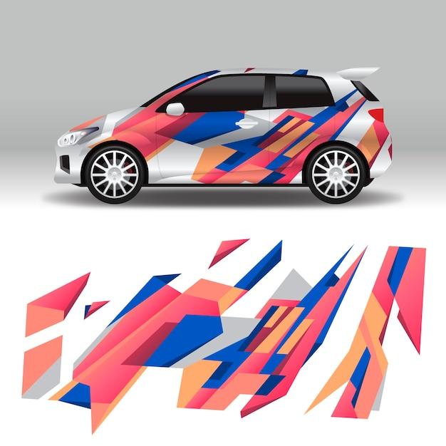 Дизайн автомобильной упаковки Бесплатные векторы