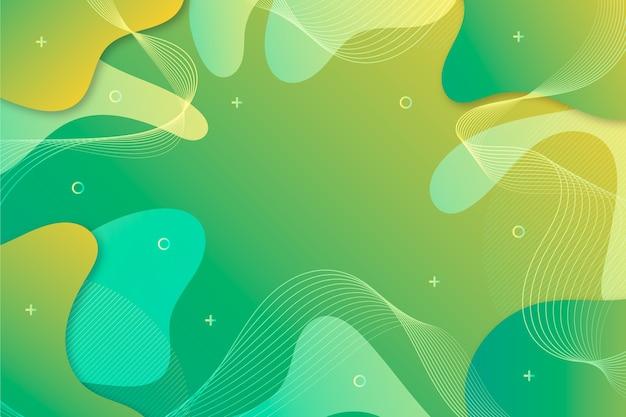 流体スタイルで抽象的な緑の背景 無料ベクター