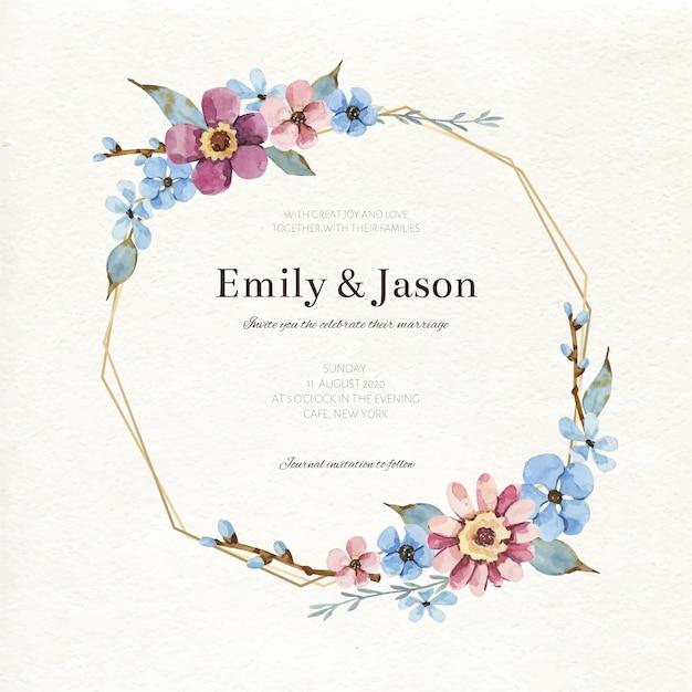 Свадебная цветочная концепция Бесплатные векторы