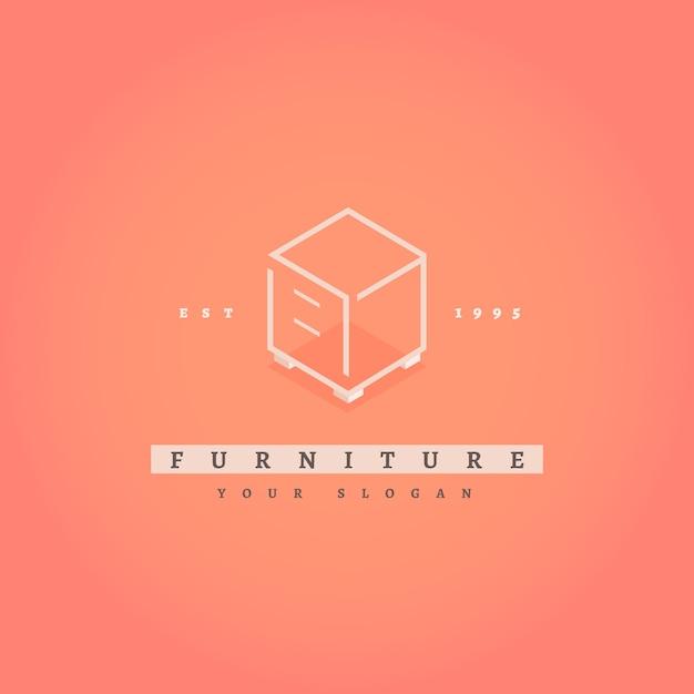 エレガントな家具のロゴ 無料ベクター