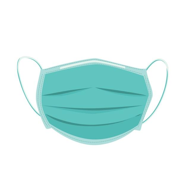 Медицинская маска иллюстрация Бесплатные векторы