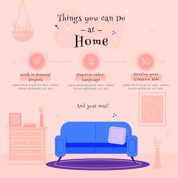 Дизайн для дома инфографики с чем заняться Бесплатные векторы
