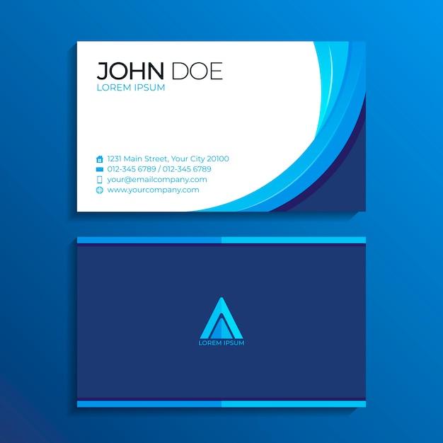 Абстрактный шаблон визитной карточки Бесплатные векторы