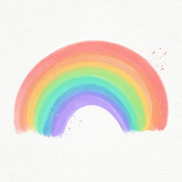 Красочная акварельная радуга проиллюстрирована Бесплатные векторы