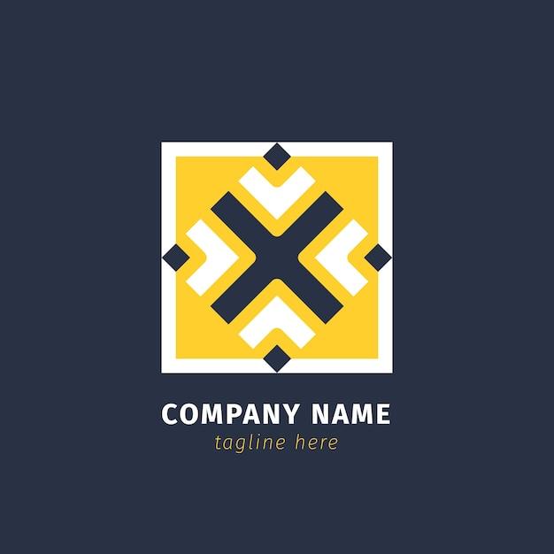 Абстрактный логотип компании Бесплатные векторы