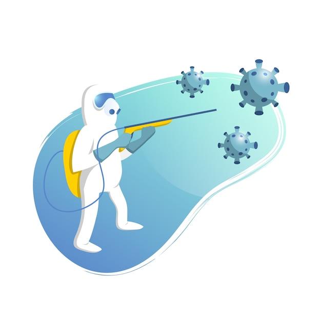 ウイルス消毒の図 無料ベクター