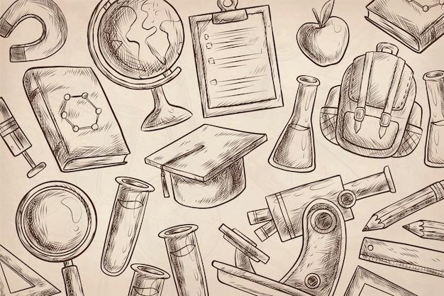 Старинный научный фон Бесплатные векторы