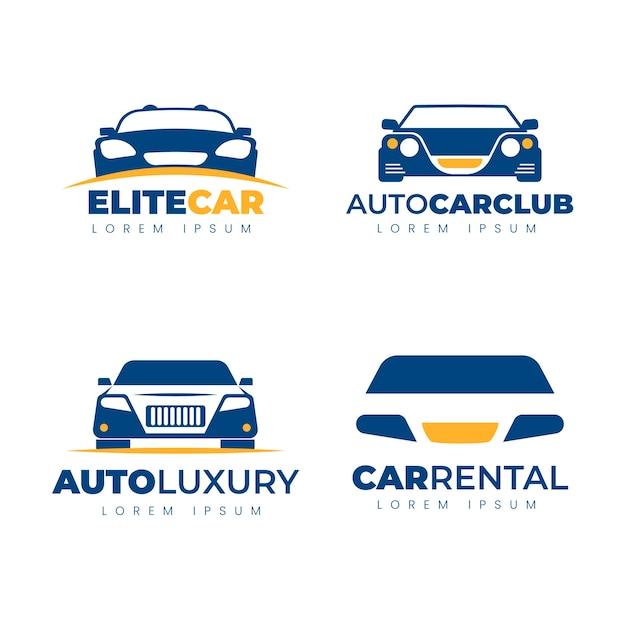 Плоский дизайн коллекции логотипов автомобилей Бесплатные векторы