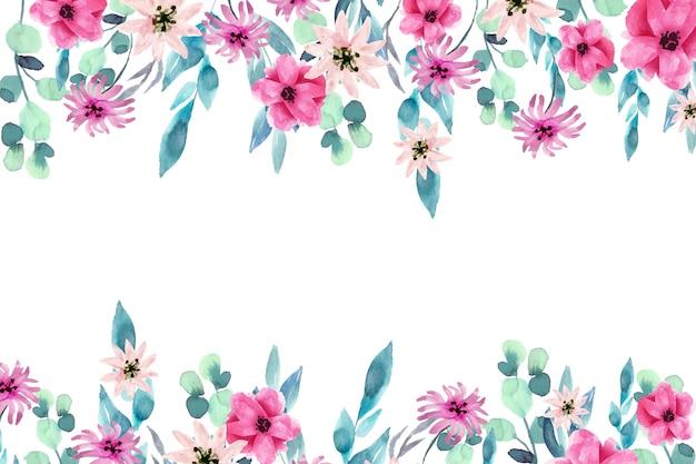 Акварель красочный цветочный фон тема Бесплатные векторы