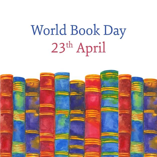世界の本の日のお祝い 無料ベクター