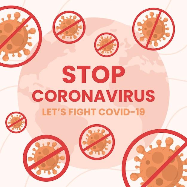 コロナウイルスの設計をやめる 無料ベクター