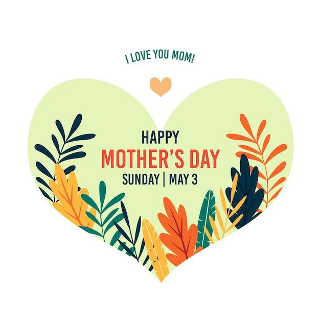 День матери приветствие концепция Бесплатные векторы