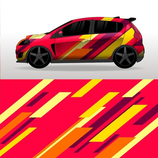 Автомобильная пленка красочного дизайна Бесплатные векторы