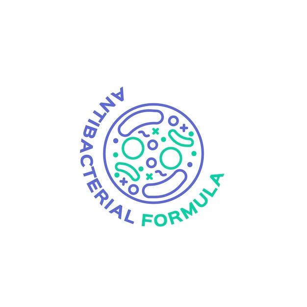 Антибактериальная концепция логотипа Бесплатные векторы