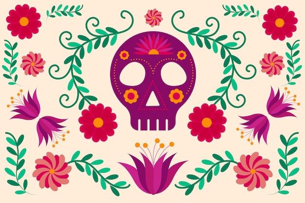 カラフルなメキシコの背景 無料ベクター
