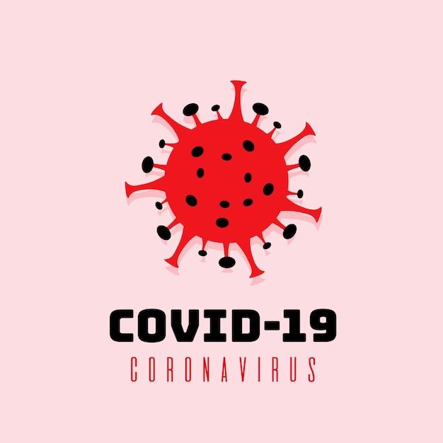 Разработка логотипа для коронавируса Бесплатные векторы