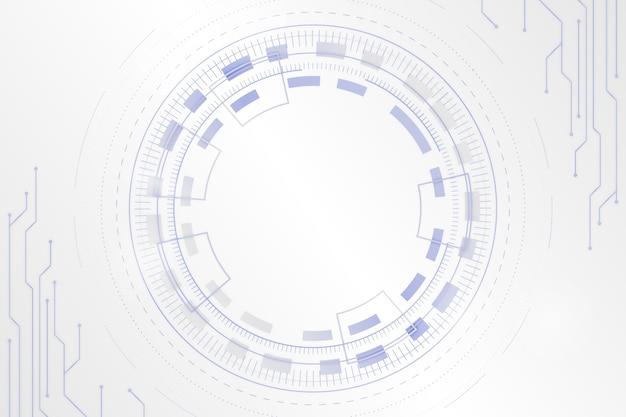 デジタルの目で白い未来的な背景 無料ベクター