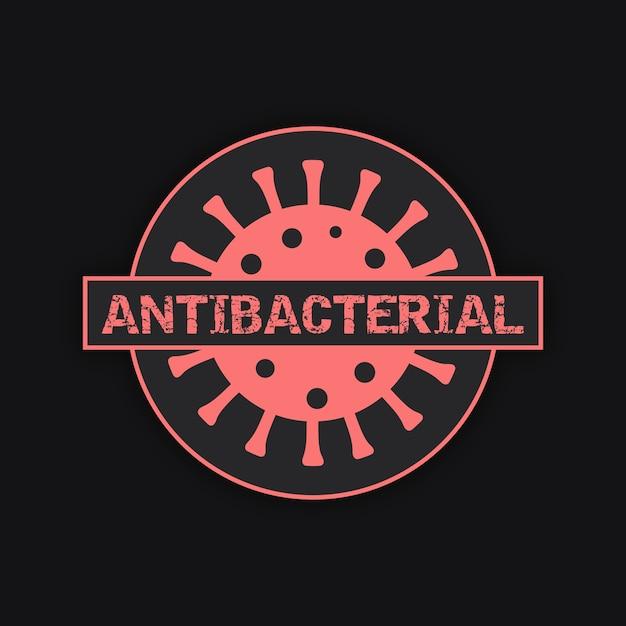 Антибактериальный дизайн логотипа Бесплатные векторы